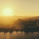 juche idea, pyongyang, north korea, sunset, city, sun wallpaper