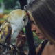 camille rochette, women, bird, owl wallpaper