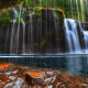 lower lewis river falls, national forest, washington state, waterfall, nature wallpaper