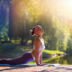 yoga, pose, nature, gym, sport, women wallpaper