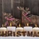christmas, new year, candle, deer, toy wallpaper