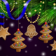 christmas, cookies, christmas tree, graphics wallpaper
