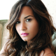 demi lovato, women, brunette, face, looking at viewer, dark eyes wallpaper