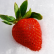 strawberry, berry, snow, food wallpaper