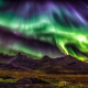 lofoten islands, nature, landscape, aurorae, mountains, sky, starry night, northern lights, norway wallpaper