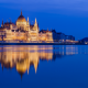 hungarian parliament, budapest, hungary, danube, night, city wallpaper