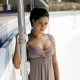 ana ivanovic, women, brunette, tennis, athlete, swimming pool, dress, sport wallpaper