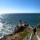 point reyes, landscape, california, ocean, rock, lighthouse wallpaper