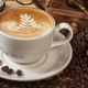 coffee, coffee beans, cup wallpaper