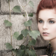 Karoline Kate, model, redhead, blue eyes, women wallpaper