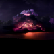 thunderstorm, storm, lightning, night, dark clouds, bad weather wallpaper