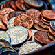 coins, metal, dollar, united states, money, dirty old coins wallpaper