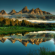 grand teton national park, jackson hole, teton mountain range, snake river, pond, mountains, fog, re wallpaper