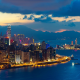 hong kong, dusk, city, urban, building, skyscrapers, sea wallpaper