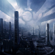 mass effect 3: citadel, city, aliens, technology, skyscrapers, video games wallpaper