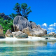 anse source dargent, seychelles, la digue, island, nature, beach, tropical, rocks wallpaper