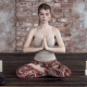 irina popova, meditation, women, yoga, candles wallpaper