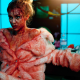 evil feed, blood, alyson bath, women, fur coat, movies wallpaper
