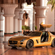 golden mercedes-benz sls amg, car, sports car, mercedes-benz, mercedes sls, dubai, column wallpaper