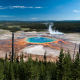 the grand prismatic spring, nature, yellowstone national park, usa, midway geyser basin, wyoming, usa wallpaper