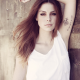 women, auburn hair, long hair, tank tops, arms up, Lena Meyer-Landrut, brown eyes wallpaper