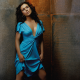 alyssa milano, actress, women, blue dress wallpaper