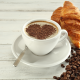 coffee beans, cup, breakfast, croissant, coffe, food wallpaper