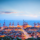 dock, ports, sea, clouds, ship, container ships wallpaper