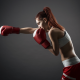 boxing, women, boxing gloves, redhead, sport, box wallpaper