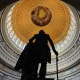 rotunda of the us capitol, statue, george washington, rotunda, george washington statue, usa, washington dc, capitol wallpaper