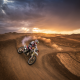 motocross, sunset, desert, motorcycle, motorbike wallpaper