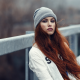 redhead, long hairs, hat, women wallpaper