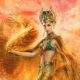 gods of egypt, movies, women, elodie yung, hathor, actress, sand wallpaper
