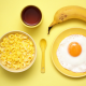 food, breakfast, yellow, bananas, eggs wallpaper