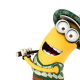 kevin, minion, despicable me 2, cartoon, movies, golf wallpaper