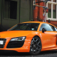 cars, audi, orange car, audi r8 wallpaper