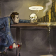 dresden files, comics, fantasy art, artwork, skull wallpaper