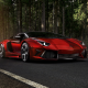 lamborghini, tree, red cars, road, lamborghini aventador wallpaper