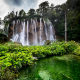 forest, waterfall, nature, croatia, plitvice lakes national park wallpaper
