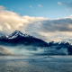 new zealand, queenstown, sea, coast, mountains, clouds, nature wallpaper