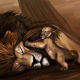 lion, art, animals, paint, lion cub wallpaper