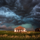 photo, storm, houses, cloudy, cyclone, force of nature, beautiful, nature wallpaper