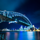 sydney harbour bridge, australia, night, sydney opera house wallpaper