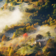 hills, forest, foliage, fog, nature, autumn, nature wallpaper