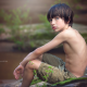boy, look, portrait, wet hairs, children, child, shorts wallpaper