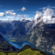 konigssee, lake, berchtesgaden national park, bavaria, germany, nature, mountains,  wallpaper