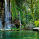 croatia, plitvice lakes national park, forest, lake, rocks wallpaper