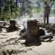 soldier, army, training, dirt, machine gun wallpaper