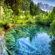 lake, mountains, beautiful, water, austria, nature, underwater wallpaper