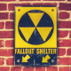 fallout shelter, sign, wall sign, bricks wallpaper